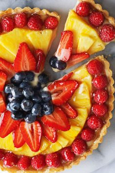 Summer Fruit Flan... I used this filling but it was too thick to strain as the recipe suggests. I may try adding an extra 1/4 to half cup of milk next time. It might also be a good idea to double the filling because I used it in a large flan pan.