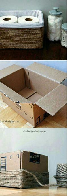 #riciclando ...qualche idea da una scatola