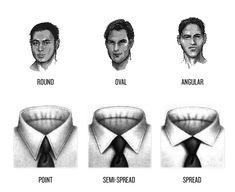 Choosing the right type of collar for your face shape.  From Black Lapel Stylists