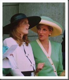 The Duchess of York Sarah Ferguson and Princess Diana