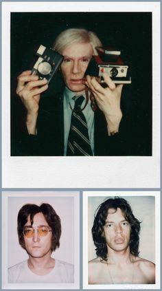 Polaroids - Andy Warhol, John Lennon, Mick Jagger