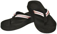 Black BaseballFlip-Flop SandalsYOUTH & ADULT SIZES!