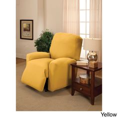 Large Stretch Jersey Recliner Slipcover - Overstock™ Shopping - Big Discounts on Recliner & Wing Chair Slipcovers