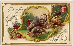 Free Printable Vintage Thanksgiving Post Cards from my personal collection - Thanksgiving Greetings!