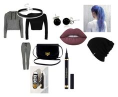 """""""Sweats"""" by rabiaheart-13 ❤ liked on Polyvore featuring Topshop, Bling Jewelry, Lime Crime, Converse, Patagonia and Yves Saint Laurent"""