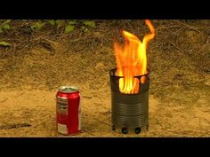 How to make a compact wood gas stove for backpacking or camping - portable, efficient, made from food cans (nothing else). This DIY wood gas stove generates ...