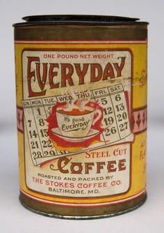 antique tobbaco cans | ... Baltimore Maryland Antique Advertising Can Excellent Paper Label