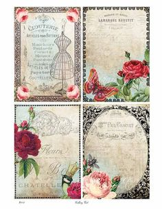 Digital Collage Sheet FRENCH BACKGROUNDS Download by GalleryCat, $3.50