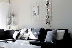 Armeringsnät ovanför soffa