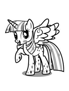 Twilight Sparkle Coloring Pages | My little pony coloring ...