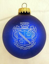 Zeta Tau Alpha Greek Crest Holiday Ball Ornament available in Good Things From Louisiana, an ebay store.