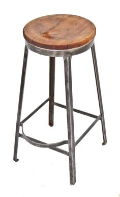 refinished american depression era industrial factory stool $250 Industrial Stool Vintage Industrial Metal Manufacturing