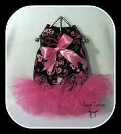I Love You Dog Tutu Harness Dress with Hot Pink by DoogieCouture. $25.00, via Etsy.