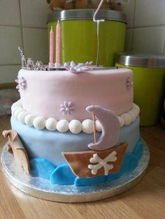Ellas pirate and princess cake Birthday Ideas, Cakes, Party, Desserts, Food, Pirates, Meet, Princesses, Meal