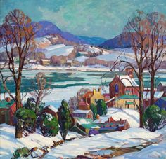 The Delaware Valley, by Fern Isabel Coppedge, Pennsylvania Impressionism