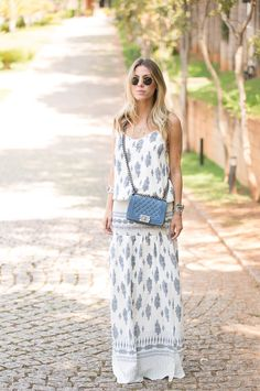 glam4you nativozza blog fashion moda look gallerist ateen long dress 4 Meu Look: Hippie Chic vestido longo RayBan Meu Look Gallerist Chanel Ateen