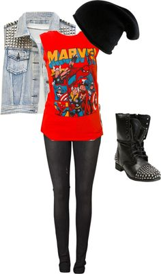 """Feeling Punk"" by eleia-cooper on Polyvore Definetely my style!!! Not necessarily total punk though."