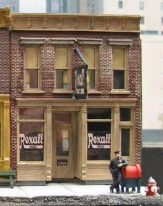 Rexall Drug Store HO Scale