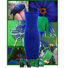 Blue & Green by feelgood35 on Polyvore featuring moda, Isabel de Pedro, Pierre Hardy, Balenciaga, Munro American, paris and blueandgreen