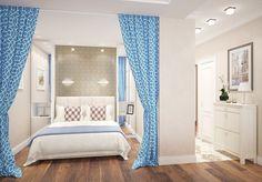 Проект квартиры-студии в 46 кв.м. - Дизайн интерьеров | Идеи вашего дома | Lodgers