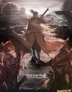 Find you way Game: Sekiro: Shadows Die Twice, BloodBorne Character: Sekiro Pixiv's artist: 5232718 ——– Arte Dark Souls, Dark Souls 2, Dark Fantasy, Fantasy Art, Soul Saga, Character Art, Character Design, Bloodborne Art, Samurai Art