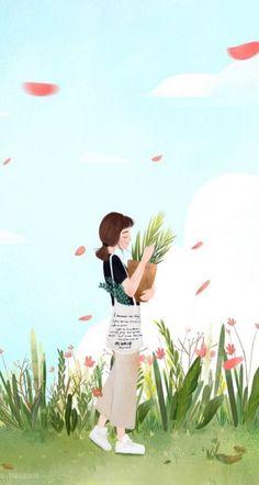 Page 2 Read Girl art from the story Galeri Vector & Gambar Mentahan by la_flz (Nfh) with reads. Art And Illustration, Illustrations, Art Anime Fille, Anime Art Girl, Kawaii Wallpaper, Cute Wallpaper Backgrounds, Cartoon Kunst, Cartoon Art, Art Mignon