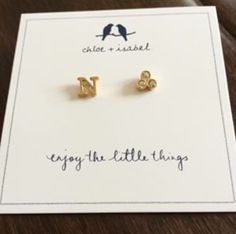 Alphabet + Trio Stone Mismatched Studs NEW for YOU! Order these at www.chloeandisabel.com/boutique/lisab. #TheJewelsLoveYou #MakeItPersonal #LifetimeGuarantee