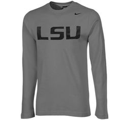 Nike LSU Tigers Thermal Long Sleeve T-Shirt - Gray #geauxtigers