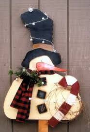 snowman made of wood - Google Search