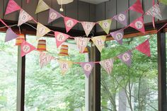Happy Birthday Pennant Banner Tutorial DIY
