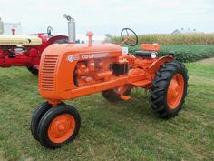 Orange CO-OP E2  tractor