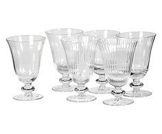 Set van 6 glaasjes Joane, transparant, H 14 cm