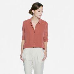 The Silk Point Collar - Red Clay – Everlane – Everlane