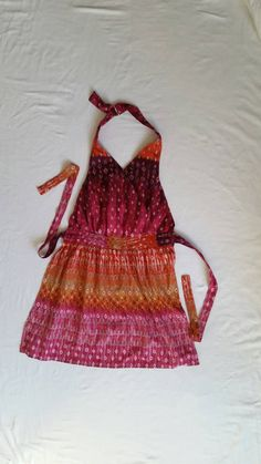 Check out this item in my Etsy shop https://www.etsy.com/listing/285828319/apron-womens-pink-purple-orange-colors