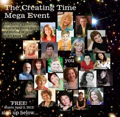 The Creating Time Mega-Event celebrates the release of Creating Time: Using Creativity to Reinvent the Clock and Reclaim Your Life by Marney K. Makridakis     It's FREE and it all starts April 2, 2012 and runs for three amazing, life-changing weeks!