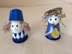 Decorazioni natalizie realizzate con cialde nespresso da Vilma Perego milano