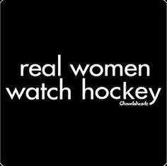 real women watch (Red Wings) hockey