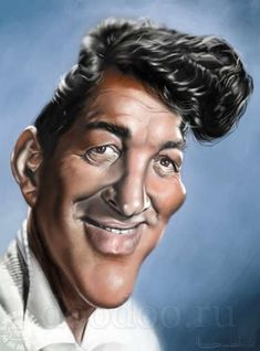 caricatures of famous people -Dean Martin