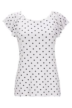White Polka Dot Top Fall Wardrobe, Capsule Wardrobe, Summer Fashion Outfits, Fashion Dresses, Cool Style, My Style, Jean Top, Black Dots, Polka Dot Top