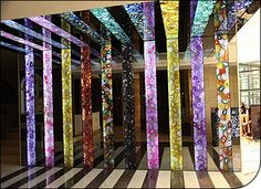 Amazing!  Thinly sliced agate geodes arranged into sheets, with a backlight!