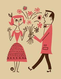 50's illustration by sabrina