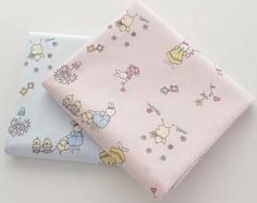 Timeless whimsical vintage style fabric with rabbits and baby bunnies 100% Cotton Fabric per fat quarter / per Half Meter