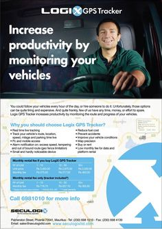SECULOGIX - Track your vehicle with our LogixGPS Tracker. Info: 698 1010