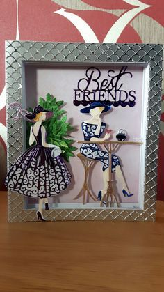 Tattered Lace Out For a Stroll & Panorama Dies Paper Cards, Diy Cards, Art Deco Cards, Tattered Lace Cards, Dress Card, Birthday Cards For Women, Cards For Friends, Copics, Aliexpress