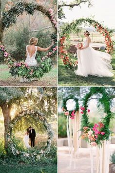 30 Stylish Ways to Create A Lush Flower-Filled Wedding - Modern Wedding Swing, Fall Wedding, Dream Wedding, Wedding Ceremony, Wedding Color Schemes, Wedding Colors, Wedding Styles, Wedding Ideas, Wedding Stuff