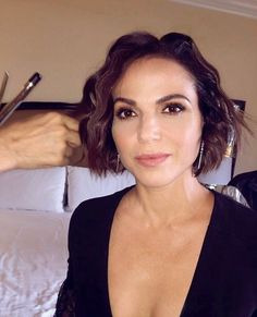 Awesome Lana getting her awesome hair done for Roni/Regina  #Once #BTS #Once #S7 her awesome trailer #StanleyPark #VancouverBC #Canada 7-2017 8-2017