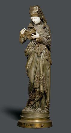 Art Nouveau, Art Deco, Chiparus, Bronze, Fantasy Armor, Antique Lamps, Sculpture Art, Sculpting, Statue