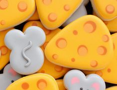 Say what?! An entire day dedicated to cheese? ❤️🐭🧀 #sweetsugarbelle #cookiedecorating #decoratedcookies #royalicing #cheese