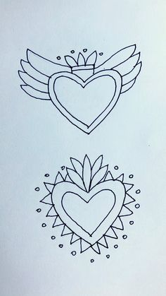 Embroidery Patterns, Hand Embroidery, Bird Houses Painted, Tin Art, Thread Painting, Mexican Folk Art, Sacred Heart, Heart Art, Valentines Diy