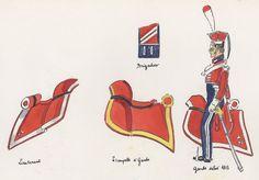 Naples; Garde Royale, Gardes d'Honneur, Shabraques & Uniform details by H.Boisselier.